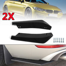 2pcs Glossy ABS Black Anti-Scratch Car Rear Bumper Lip Diffuser Splitter Canard
