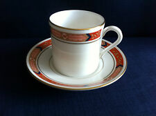 Royal Worcester Beaufort small red coffee can & saucer