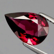 2.93 CT NATURAL RHODOLITE GARNET, PEAR SHAPED, EXTREMELY FINE PINKISH RED