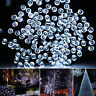100 150 200 White LED Solar Power Fairy Lights String Outdoor Party Wedding Xmas