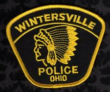 Wintersville Ohio Police Patch  Indian Chief