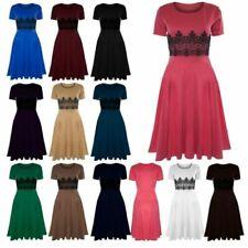 Round Neck Short Sleeve Women's Fit & Flare