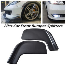 2Pcs Carbon Fiber Water Transfer Printing Car SUV Front Bumper Splitters Canards