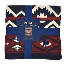 Ralph Lauren Polo Azul Marino Marca Caballo Suroeste Faro 127cm X 178cm Manta