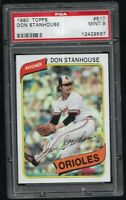 1980 Topps Don Stanhouse Baltimore Orioles #517 PSA 9 MINT SET BREAK