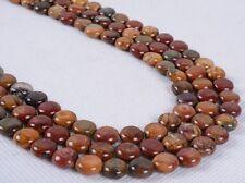"0315 8mm Multi-color picasso jasper round rondelle loose gemstone beads 16"""