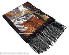 Laurel Burch Moroccan Mares Silk Neck SCARF Wrap Horses Arabian New
