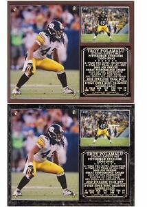 Troy Polamalu #43 Pittsburgh Steelers 2003-14 Photo Card Plaque SB Champion
