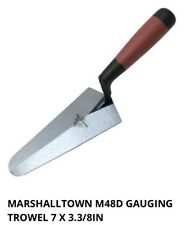 "MARSHALLTOWN M48D 7"" 180mm Gauging Brick Cement Trowel, Dura-Soft Grip Handle"