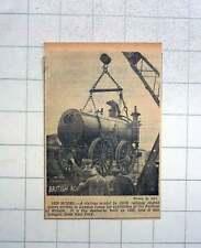 1951 Vintage Locomotive Agenoria , 1829, Arrives For Festival Of Britain