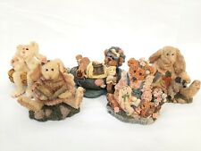 Lot (5) Boyds Bears Bearstone Collection Figurines with Boxes- Daphne Hare