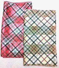 Ladies Classic Tartan Check Silk Feel Chiffon Scarf Wrap Shawl RM1st UKposting