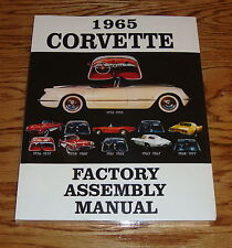 1965 Chevrolet Corvette Factory Assembly Manual 65 Chevy