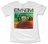 Eminem Necklace Fade Image White T Shirt New Official Hip Hop