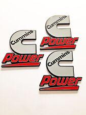 3 Cummins Diesel Power Badges Emblems Decals Dodge Ram Kenworth Peterbilt Volvo