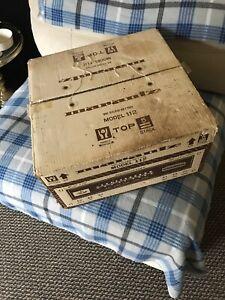 Original Marantz Model 112 AM/FM Tuner Box ~ BOX ONLY with STYROFOAM