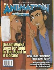 APRIL 2000 ANIMATION magazine DREAMWORKS - EL DORADO