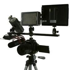 "16"" DSLR FLASH SHOE Extension Bracket Bar Camera LED Light Mic SLR Hot Cold Shoe"
