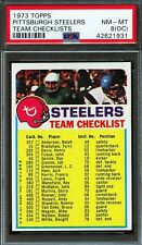 PSA 8(OC) 1973 TOPPS PITTSBURGH STEELERS TEAM CHECKLISTS