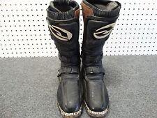 Answer Mode Black Motocross Dirt Bike ATV Offroad Boots Men's Size 4 US women 5