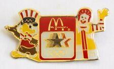 1984 L.A. OLYMPICS McDONALD'S PIN BADGE (HANDS UP)