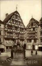 Bernkastel Mosel s/w AK Trinks Bildkarte ~1910 alte Fachwerk Häuser am Markt