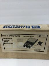 Vintage He Consumer Electronics Portable Cassette Tape Recoder
