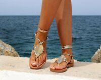 Women Summer Bohemia Slippers Comfort Flat Sandals Clip Toe Beach Thong Shoes