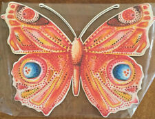 BUTTERFLY WOOD WALL HANGING PRINTED