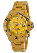 NWT ToyWatch Unisex Fluo FL39DY Dark Yellow Plasteramic Watch