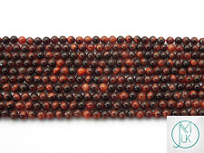 Red Tiger Eye Natural Gemstone Round Beads 2mm Jewellery Making (180+ Beads)
