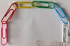 5000 New Assorted Large Vinyl Coated Multi Coloured Art And Crafts Paper Clips.