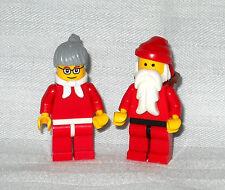 NEW LEGO MR & MRS CLAUS MINIFIGURES, SANTA & WIFE