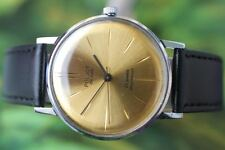 VINTAGE MEN'S BIG RUSSIAN MECHANICAL POLJOT DELUXE WATCH 23 JEWELS!