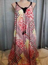Plus Size Geometric Maxi Viscose Dresses for Women