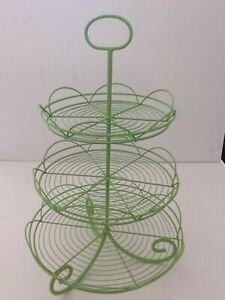 Fabulous Green Wire Multi-Level Serving Piece Cookies Treats Cupcakes Decor