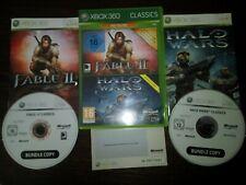 JEU XBOX360 FABLE 2 HALO WARS COMPLET PAL FRANCAIS