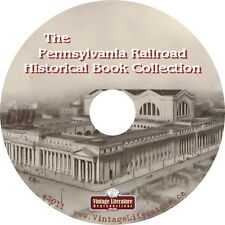Pennsylvania Railroad History {16 Vintage Penn Railroad History Books} on DVD