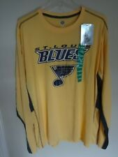 NWT NHL St. Louis Blues Long Sleeve Pullover Hockey Graphic Shirt Men XL