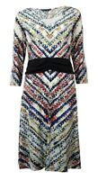 Miraclesuit Women's Printed Long Sleeve Dress