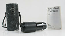 80-200MM F/4 NIKON LENS W/ CAPS AND CASE