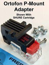 ORTOFON P-Mount Adapter 1/2 inch Cartridge Headshell Fits Shure & Technica #6364