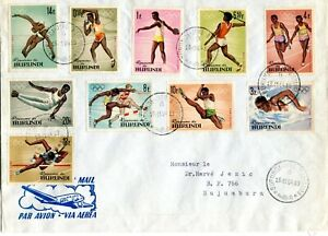 BURUNDI 1964  cover stamped  f.d.c. stamps  OLYMPICS GAMES TOKIO