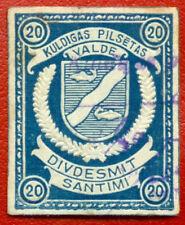 LATVIA LETTLAND LOCAL REVENUE STAMP KULDIGA 20 Sant. 957