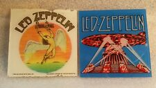 Carnival Prize 80's Pair Of Rock Vintage Fair Glass 6x6 Sized Led Zeppelin
