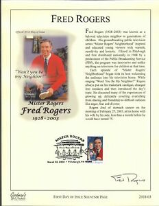 Goodman's Art Cachet 5275 Fred Mister Rogers Pittsburgh Trolley Souvenir Page