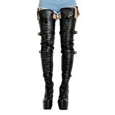Sexy Schenkelhoch Stiefel Platform Pole Dance Damenschuhe Extreme High Heels 44