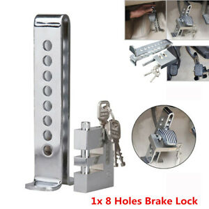 Brake Pedal Lock Security Auto Car Truck Stainless Steel Clutch Lock Anti-theft
