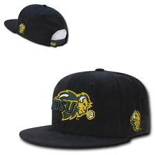 NCAA NDSU North Dakota State University Faux Suede Snapback Caps Hats Black