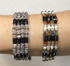 Magnetic Hermatite Fashion String Wrap Bracelet or Necklace - 2 Designs per Pack